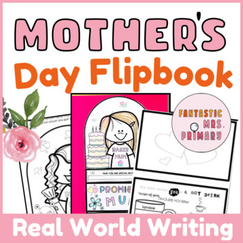 Mother's Day Writing: editable flip book