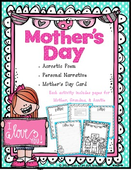 Mother's Day ~ Written with Love (Acrostic Poem, Personal Narrative, & Card)
