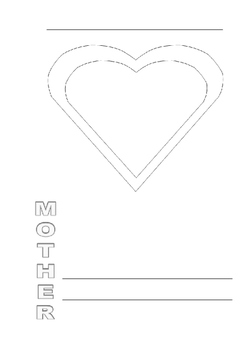 Mother's Day acrostic poem template