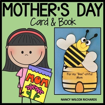 """Mother's Day Card and Book for a """"BEE""""-utiful Mom"""