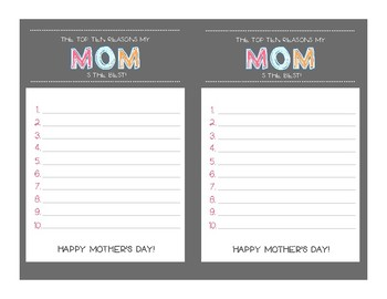 Mother's Day and Father's Day Card