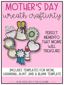 Mother's Day and Father's Day Craftivity (Wreath & Tool Box}