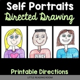 Self Portraits Directed Drawing