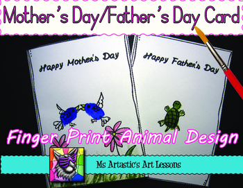 Mother's Day and Father's Day Finger Print Card