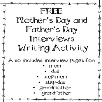 Mother's Day and Father's Day Interviews FREE