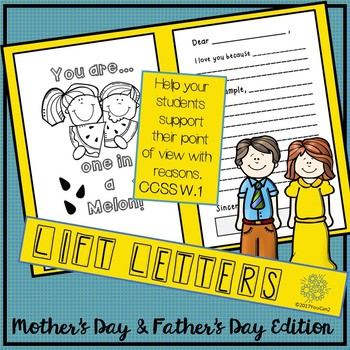 Mother's Day and Father's Day Lift Letters