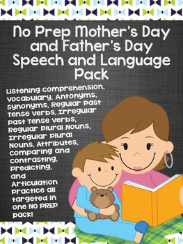 #may17slpmusthave Mother's Day and Father's Day Speech and Language Bundle