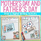 Mother's Day and Father's Day Writing Activity