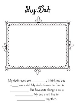 Mother's Day and Father's Fill in the Blanks