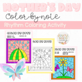 Mother's Day and May Day Color-by-Note Music Coloring Pages Activity for Rhythm