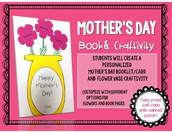 Mother's Day booklet and craftivity