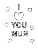 Mother's Day coloring pages (UK VERSION)