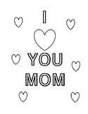 Mother's Day coloring pages (USA version)