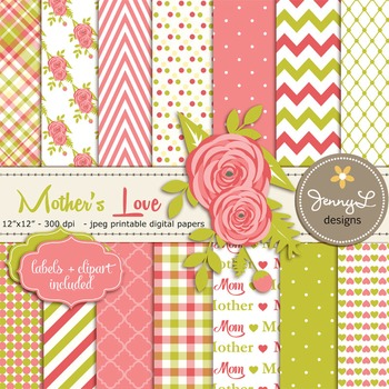 Mother's Day digital paper