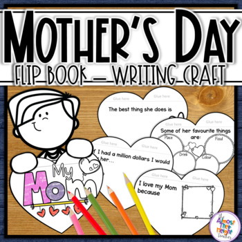 Mother's Day - a writing and craft flip book celebrating Mom