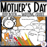 Mother's Day -writing & craft flip book - for UK, Australia & New Zealand Mum's