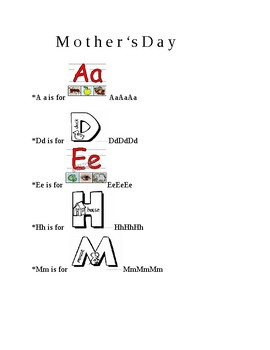 Mother's Day fun activities and cooperative learning