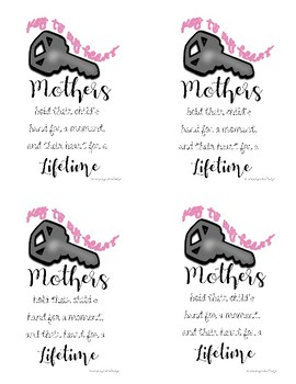 Mother's Day keychain tag