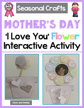 Mother's Day or Valentine's Day Craft - 'I Love You' Flower - Seasonal Craft