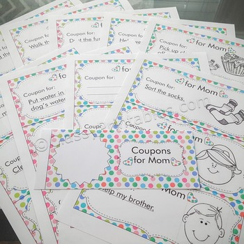 Mother's Day personalized Mom's Coupons with FREE fact sheet and coloring pages