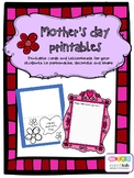 MOTHER'S DAY ACTIVITIES! CARDS LETTERHEADS