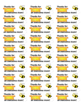 Mother's Day thank you label