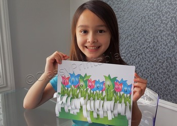 Mother's Day tulip field with FREE fact sheet and coloring pages