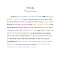 Mother's Day typing & creative writing activity