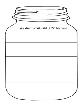 "Mother's Day writing ""AH-Mason"" Mom"