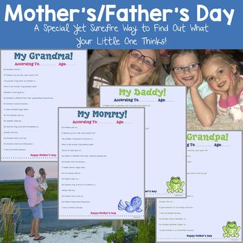 Mother's/Father's Day Gift (Writing Project)