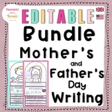 Mother's and Father's Day Writing BUNDLE: easy craft flip book