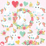Unicorn clipart commercial use, vector graphics  - CL1081