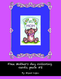 Mother's day coloring card #2. (Free)