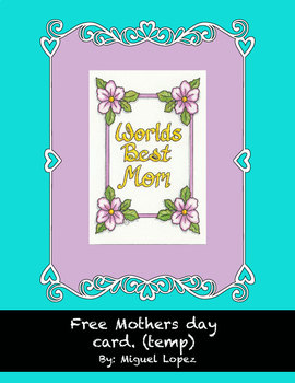Mother's day coloring card. (free)
