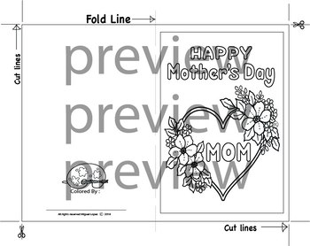 Mother's day coloring cards. (4 pack)