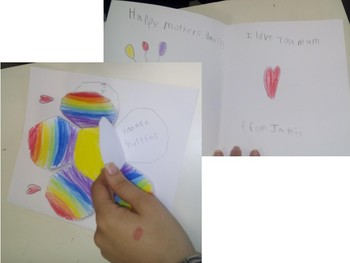 Mother's day flower craft and card