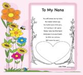 Mother's Day Handprint Poem *EDITABLE*