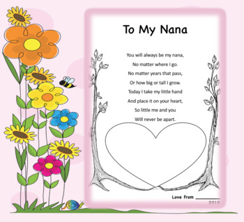 Mother's Day Handprint Poem *EDITABLE*