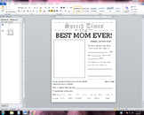 Mother's day speech activity