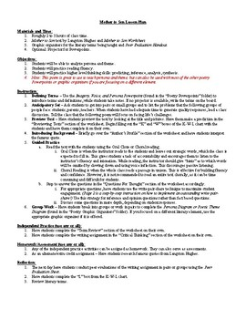 lesson mother to son by langston hughes lesson plan worksheet key. Black Bedroom Furniture Sets. Home Design Ideas