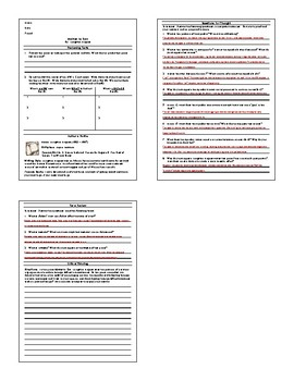 Lesson: Mother to Son by Langston Hughes Lesson Plan, Worksheet, Key