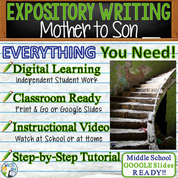 Mother to Son by Langston Hughes - Text Dependent Analysis Expository Writing
