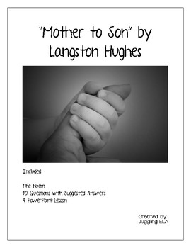Mother to Son by Langston Hughes - Poem, Questions and PPT Lesson