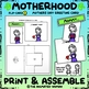 Motherhood FLIP-CARD 1 - Mothers Day Greeting Card