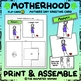 Motherhood FLIP-CARD 3 - Mothers Day Greeting Card