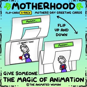 Motherhood FLIP-CARDS BUNDLE - Mothers Day Greeting Cards