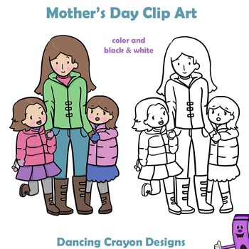 Mother's Day Clip Art Kids, Mothers and Grandmothers