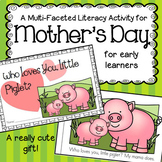 Mother's Day Emergent Reader Cut and Paste Baby Animals -