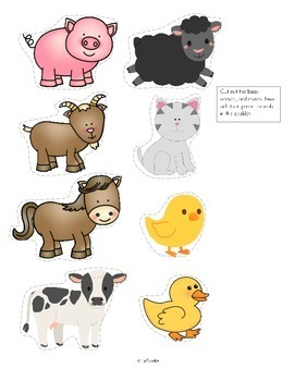 Mother's Day Emergent Reader Cut and Paste Baby Animals - Cute Gift!