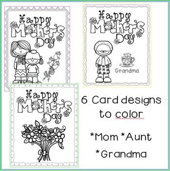 Mother's Day Cards with Writing Prompts Inserted